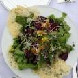 Farm Dinner Local Beet Salad with Parmesan Crisp